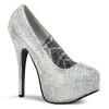 TEEZE-06R Silver Satin/Iridescent Rhinestone